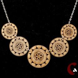 collier chaîne métal argenté