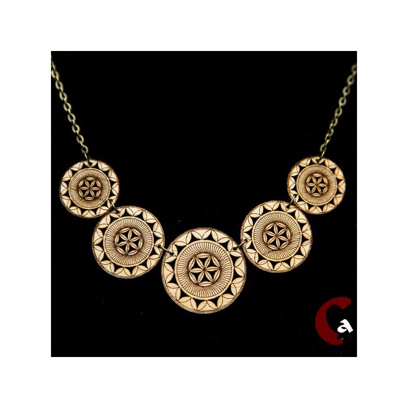 collier chaîne métal bronze