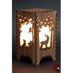 Lampe forêt (bois)