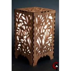 Lampe motif roseau (bois)