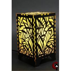 Lampe motif roseau (jaune)