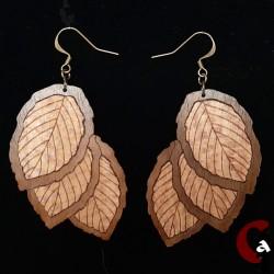 Boucles d'oreille feuilles,...