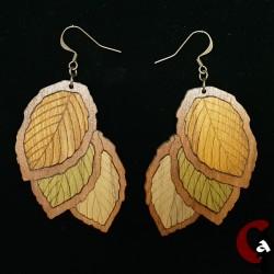 Boucles d'oreille feuilles...