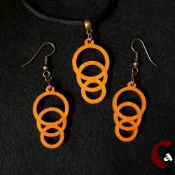 Parure ronds oranges